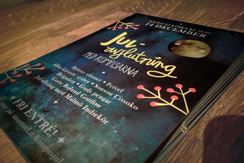 Julavslutning-med-kompisarna-grafisk-design-print-tryck-flyer-affisch-broschyr-folder-formgivning-Art-Direction-grafik-Malmö-E-utbildning1